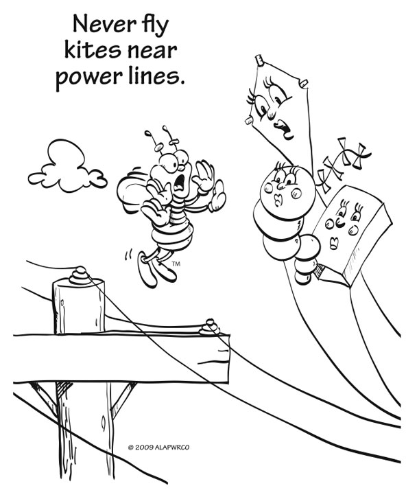 free coloring pages of electrical safety