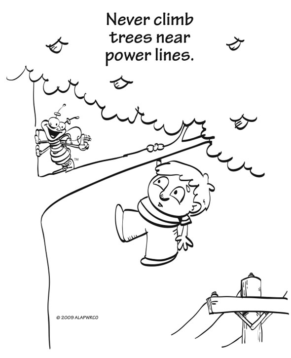 free electric safety coloring pages