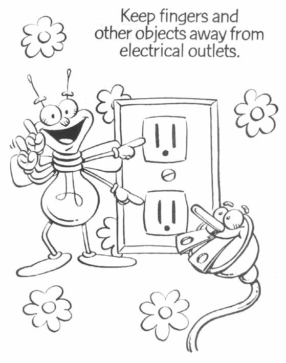 printable electrical coloring pages - photo#1