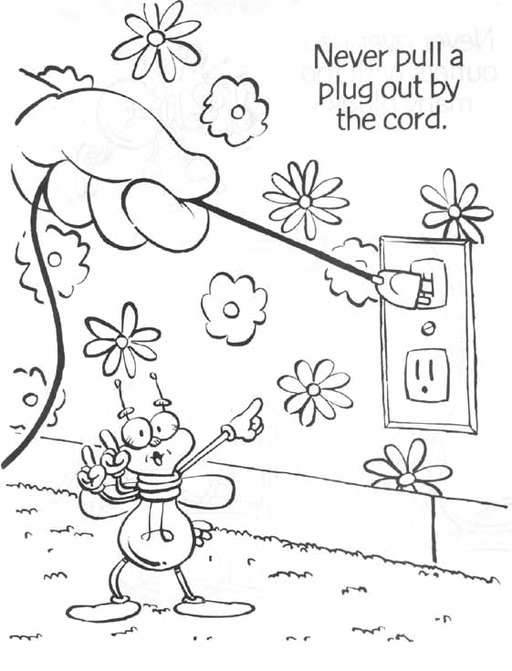 electricity saving colouring pages